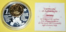 Jersey 1 Coin(gilded)+Medal 40mm, 31g, Proof Like + Zertifikat