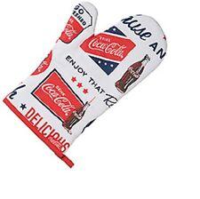 COCA COLA COKE RETRO ADS OVEN MITTS PAIR OF 2  NEW!