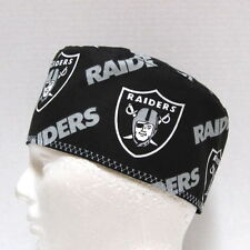 Raiders Mens Scrub Hat, Surgical Cap, Skull Cap, Chemo Hat, Chefs Cap