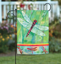 New Toland - Dragonfly - Colorful Flying Bug Spring Summer Garden Flag