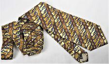 TED LAPIDUS Paris Mens Tie Italy Fashion Designer Diamond Chain Patterns Silk