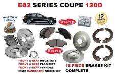 Para Bmw 120d 2007-2012 Delantero Y Trasero De Discos De Freno de configurar y Pad Kit & Sensor Y Zapatos