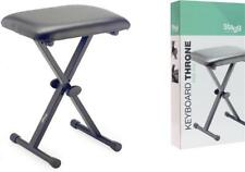 Stagg KEB-A10 X-Style Adjustable Keyboard Piano Stool Bench Padded Seat Black