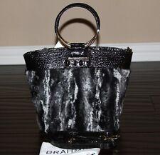 💚 NWT Brahmin Mod Bowie Black Wichita Bag Purse Faux Fur Handbag $355