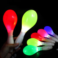 2X Flashing Multi Colour LED Maracas Light Up Neon Sensory Shaking Toy Xmas Gift