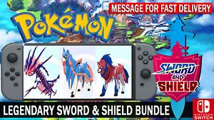 Pokemon Sword & Shield 6IV Zacian, Zamazenta, Eternatus Legendary Pokemon
