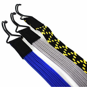 FLAT ELASTIC BUNGEE CORD LUGGAGE STRAPS HEAVY DUTY, CARGO TIE DOWN, ROOF TRAILER
