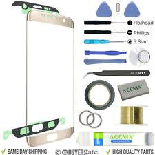 Samsung Galaxy S7 Edge Oro Pantalla de Recambio Lente Frontal Kit reparación +
