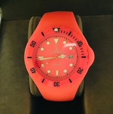 Lovely Ladies Toy Watch Jelly Quartz Analogue Wristwatch in Pink - Working