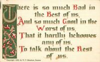Arts Crafts Worst Best Saying Sheahan 1908 Postcard Artist Impression 6649