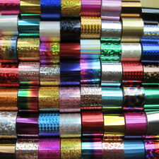 300 x Nail Art Wrap Foils Transfer Glitter Sticker Polish Decal Decoration UK