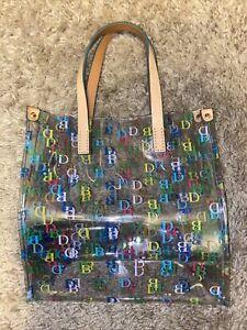 Dooney & Bourke IT Clear Small Shopper Tote/Bag/Purse MJITM OT NWT