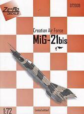 "zr72009/ Ze-Ro Decals - MiG-21bis - Kroatische Luftwaffe"" - 1/72"