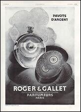 Publicité Parfum Roger & Gallet  perfume  photo vintage print ad  1929 - 6h