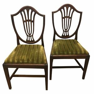 Hepplewhite Shield Back Chairs with Drop-in Seats - a Pair