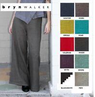 BRYN WALKER Heavy Linen  LONG FULL PANT  Wide Leg Palazzo  XS S M L XL  SPR 2018