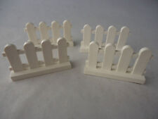 LEGO PART 33303 WHITE  1 x 4 x 2 PICKET FENCE x 4