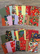 40 Sheets! Yuzen Origami paper 20 Japanese Designs 10 Colour. 6cm Made In Japan