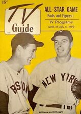 TV Guide 1950 Joe DiMaggio Yankees Ted Williams Red Sox Pre National VG/EX COA