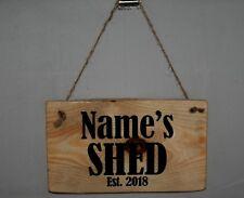Outdoor Shed Sign Plaque Daddy Est. 2019 Dad Hanging Door Shop Hide Grandad