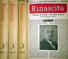 TOGLIATTI RINASCITA RASSEGNA DI POLITICA E DI CULTURA ITALIANA LANDI 1967 3 VOL.
