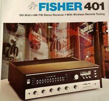 Fisher 401 Stereo Receiver Sales Brochure Original 1971 Rare VHTF Radio Long Isl
