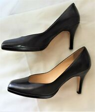 """Cole Haan Collection Pumps Nikeair Black 9B Shoes Broad Square Toe 3"""" High Heel"""