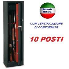 ARMADIO BOX PORTAFUCILI FUCILIERA ACCIAIO BLINDATO TECHNOMAX 10 POSTI CACCIA
