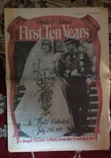 Princess Diana Rare Photo Newspaper UK First Ten Years 1991