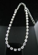"""Less than 8"""" Silver Costume Anklets"""