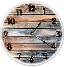 "12"" Printed Photo Barn Wood Decal Clock - Large 12 inch Wall Clock - 2117"