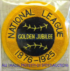 1925 NATIONAL LEAGUE Golden Jubilee COOPERSTOWN COLLECTION PATCH Willabee & Ward