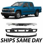 New Chrome - Steel Front Bumper Valance Kit For 2004-2012 Chevy Colorado Truck