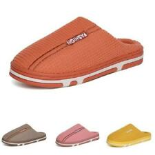 Winter Warm Mens Womens House Slippers Shoes Backless Slip On Indoor Non-slip B
