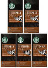 Starbucks Nespresso Espresso Guatemala Antigua Compatible 50 Pods, 5 x 10 Pods