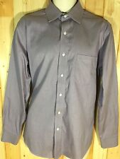 Croft & Barrow Men's Button Up Non-Iron Long Sleeve Dress Shirt Purple 16 34/35