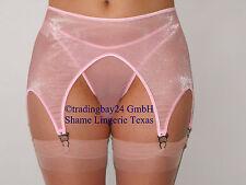 Strapse Strapsgürtel Strumpfhalter o/s SHEER PINK glänzend unisex transparent