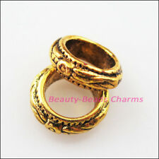 15 New Charms Round Spacer Beads 11mm Tibetan Gold Tone