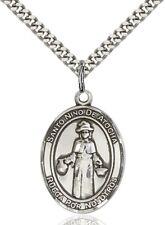 Sterling Silver Catholic Santo Nino de Atocha Medal, 1 Inch