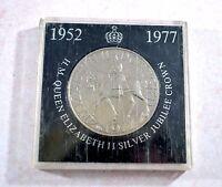 1977 Queen Elizabeth II silver jubilee crown coin - cased - Natwest Issue
