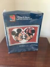 New listing New Sealed Caron Latch Hook Kit Mickey & Minnie Unlimited Disney Heart