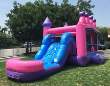Commercial 13x24 Princess Tiara Athletic Wet Dry Combo Waterslide Bounce House