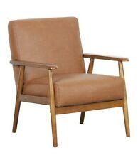 Pulaski Wood Frame Faux Leather Accent Chair