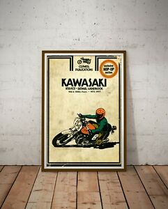 "Kawasaki Motocross Handbook POSTER! (Up to full-size 24"" x 36"") - 1973 to 1977"