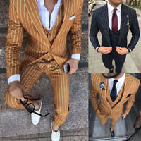 Striped Men's Suits Tuxedos For Wedding Formal Slim Fit Latest Design Tailored