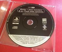 Disney Pixar Monsters & co. (ita) Playstation PROMO DISC not for resale PS1 PSX
