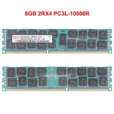 For Hynix 8GB 2RX4 PC3L-10600R DDR3-1333MHz 1.35V ECC Registered DIMM Memory RAM