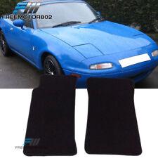 Fit 90-97 Mazda Miata MX-5 Black Nylon Floor Mats Carpets Nonskid 2PC