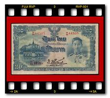 RARE GOVERNMENT OF THAILAND P-49b 20 BAHT BANKNOTE 1942 King Rama VIII