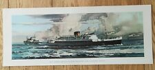 More details for mv cambria holyhead dun laoghaire ferry original carriage print ireland 1957